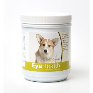 Healthy Breeds Cardigan Welsh Corgi Dog Eye Care Support Soft Chews 75 Count