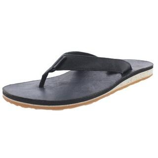 Teva Mens Leather Slide Flip-Flops