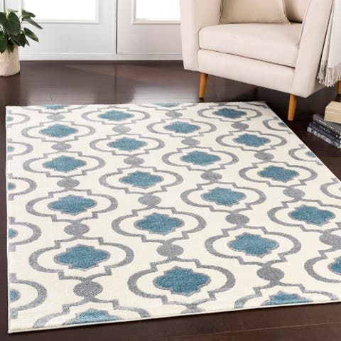 Brieuc Transitional Geometric Area Rug