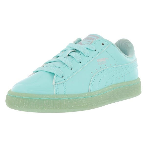 size 40 86292 5e26d Shop Puma Basket Patent Iced Glitter Casual Girl's Shoes ...