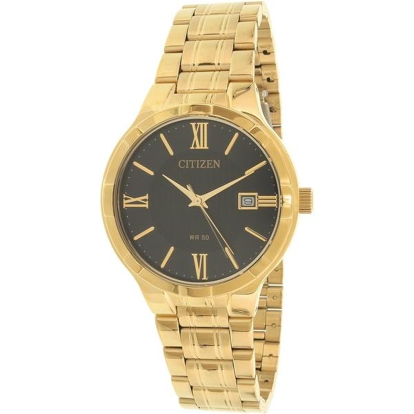 c161bc86265fd Shop Citizen Men s Gold Stainless-Steel Quartz Dress Watch - Free ...