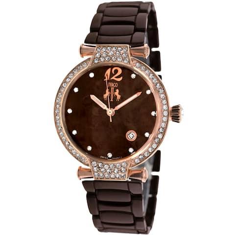 Jivago Women's Bijoux Brown MOP Dial Watch - JV2212 - One Size