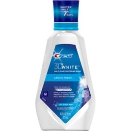 Crest 3D White Arctic Fresh Multi-Care Whitening Rinse Icy Cool Mint 473 mL