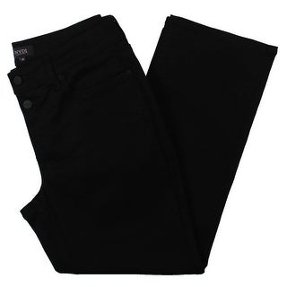 Link to NYDJ Womens Marilyn Ankle Jeans Mock Fly Skinny - Black Similar Items in Women's Plus-Size Clothing
