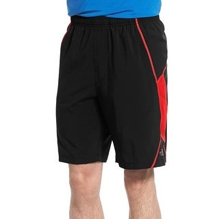 The North Face NEW Black Red Mens Size Large L Colorblock Fitness Shorts