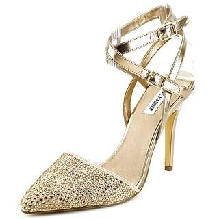 Steve Madden Porttt Women Pointed Toe Synthetic Gold Heels