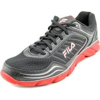 Fila Memory Fresh 2 Men Round Toe Leather Black Running Shoe