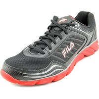 Fila Memory Fresh 2 Men  Round Toe Leather Black Running Shoe