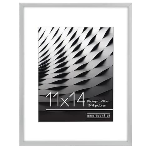 """Americanflat Thin Picture Frame in Silver Wood -11"""" x 14"""""""