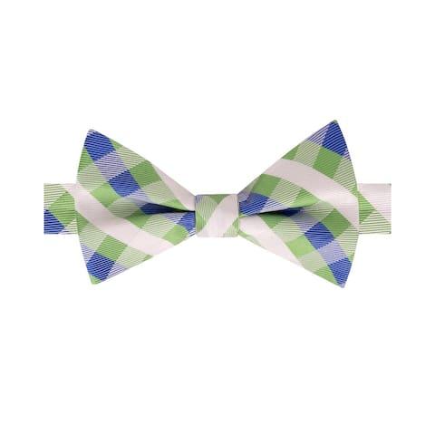 f390b9ae6 Tommy Hilfiger Men s Derby Small Gingham Pre-Tied Silk Bow Tie Green