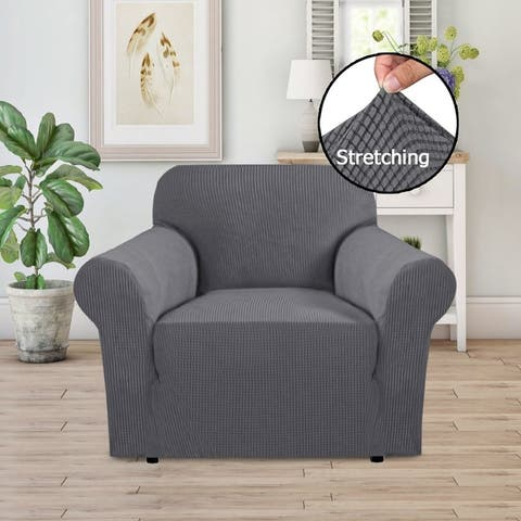 PrimeBeau 1-Piece Jacquard Stretchy Slicpver Chair Size - 7565