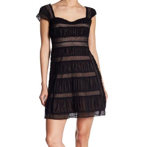 Free People Women's Mesh Overlay Ruch Sheath Dress
