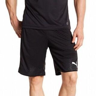 Puma NEW Black Mens Size Medium M Textured Drawstring Athletic Shorts