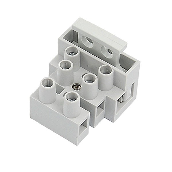 Unique Bargains 10 Pcs 3P Terminal Block Connector Gray for 5x20mm Fuse