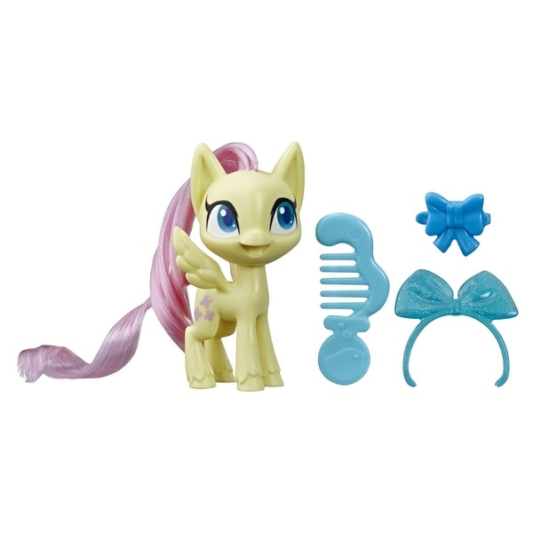 My Little Pony Fluttershy Potion Pony Figure -- 3-Inch Yellow Pony Toy With Brushable Hair, Comb, And Accessories. Opens flyout.