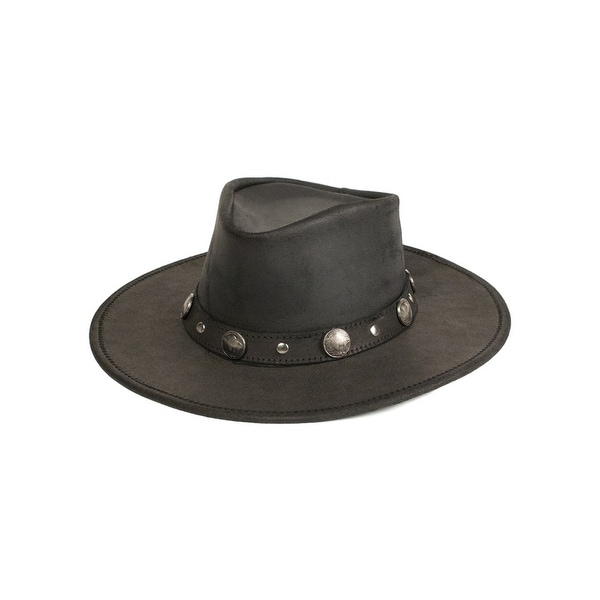82ac2b99947 Shop Minnetonka Western Hat Adult Buffalo Nickel Leather Black - Free  Shipping Today - Overstock - 22307534