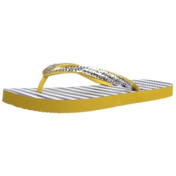 d9b7d609521fc Shop Nomad Womens Flare Sequined Slide Flip-Flops - 9 - Free ...