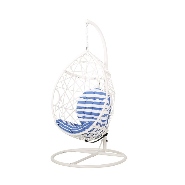 Cayuse Outdoor Wicker Hanging Tear Drop Chair by Christopher Knight Home. Opens flyout.