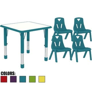 2xhome - Kids Table and Chairs Set Height Adjustable Rectangle Activity Table School Table Childs Bright Color Table Preschool (Option: Industrial)|https://ak1.ostkcdn.com/images/products/is/images/direct/37093a358a3ca81b278012e2f7e316cf41381ee0/2xhome---Kids-Table-and-Chairs-Set-Height-Adjustable-Rectangle-Activity-Table-School-Table-Childs-Bright-Color-Table-Preschool.jpg?impolicy=medium