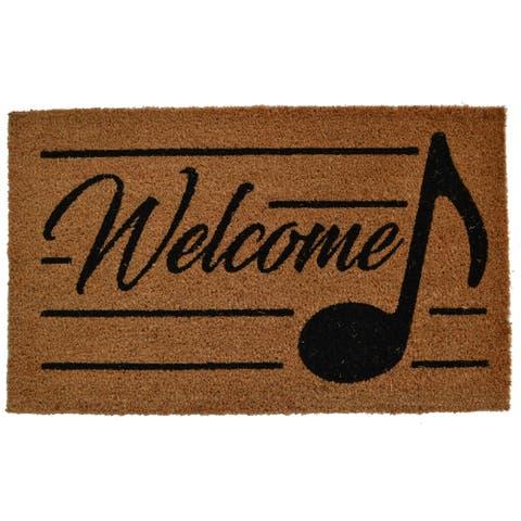 Eighth Note Welcome Outdoor DoorMat