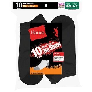 Hanes Boys' No-Show EZ Sort Socks 10-Pk