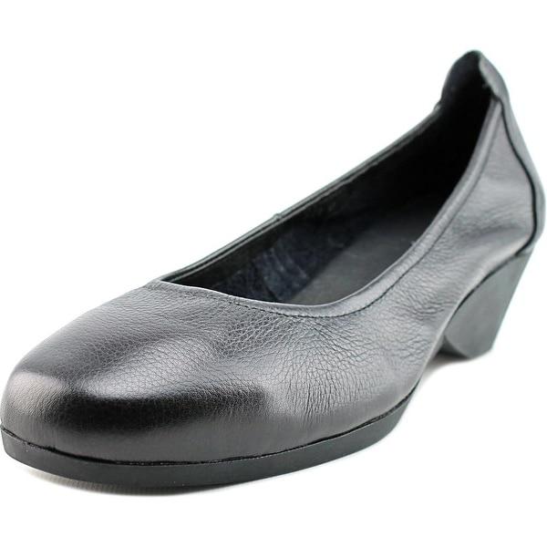 Spring Step Keziah Women  Round Toe Leather Black Heels