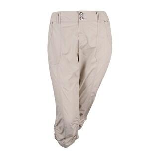 INC International Concepts Women's Curvy-Fit Cargo Capri Pants