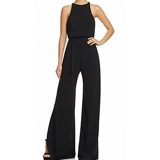 13480b9ef0ca Shop Jill Stuart NEW Black Womens Size 14 Popover Wide-Leg Halter Jumpsuit  - Free Shipping Today - Overstock - 18854967