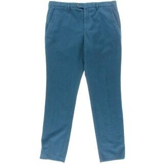Hardy Amies Mens Cotton Heddon Fit Trouser Pants - 36