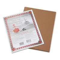 Pacon  Riverside Construction Paper- 76 lbs.- 9 x 12- Brown- 50