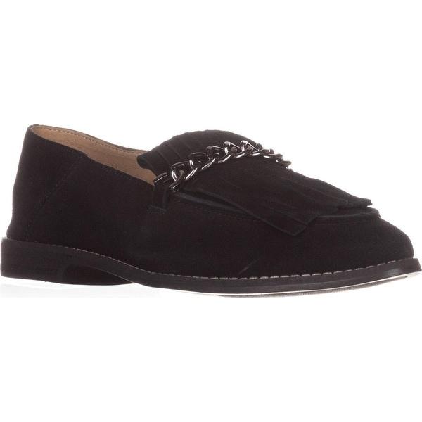 Franco Sarto Augustine Fringe Loafers, Black - 10 us / 40 eu
