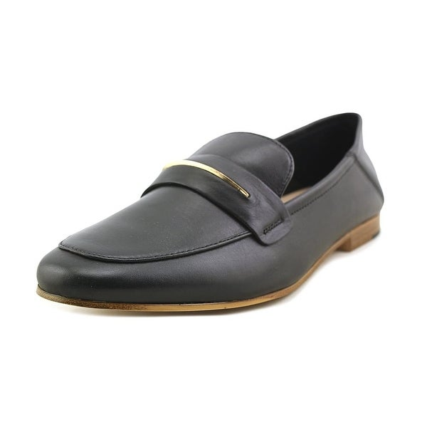 Aldo Celio Women Round Toe Leather Black Loafer