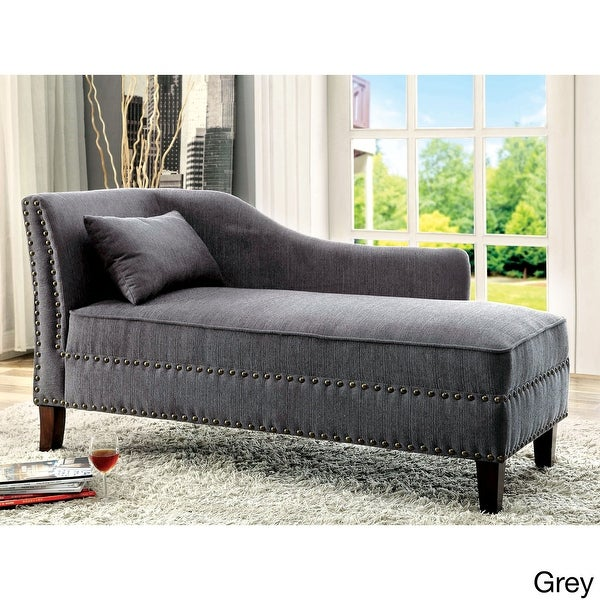 Furniture of America Sing Transitional Fabric Chaise Lounge. Opens flyout.