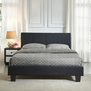 Link to Nevis-Queen Fabric Platform Bed Similar Items in Bedroom Furniture