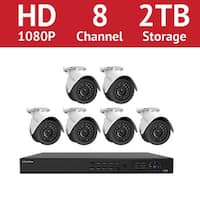 LaView 8 Channel 1080p IP NVR with (6) 1080p Bullet Cameras and a 2TB HDD