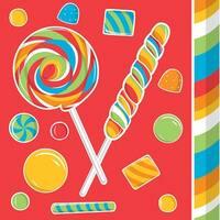 16 Pack Beverage Napkins Sugar Buzz - Multi