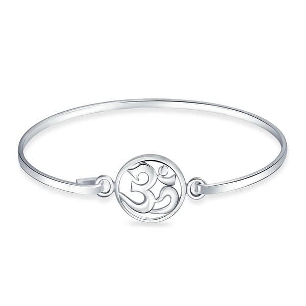 Statement Antique Fine Ring Temple Jewlery 925 Sterling Silver Bracelet Handmade Bracelet-Tribe Oxidized Bracelet Gift Om Bracelet