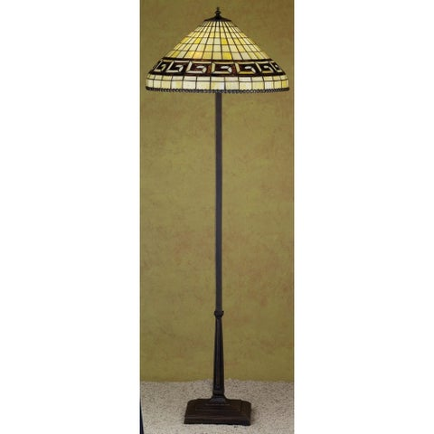 Meyda Tiffany 29503 Stained Glass / Tiffany Floor Lamp from the Greek Key Collection - tiffany glass