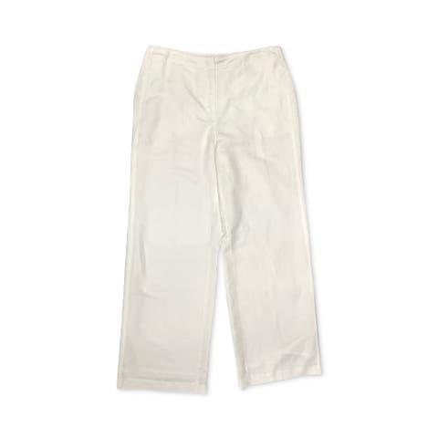 Alfani Women's Pants Soft White Size 6 Dress Flat-Front Trousers