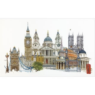 "London On Aida Counted Cross Stitch Kit-31""X20"" 18 Count"