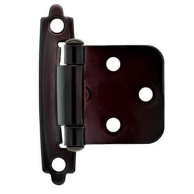"Liberty Hardware H0103BL-500-U Self-Closing Overlay Hinge 3/8"", Oil Rubbed Bronze"
