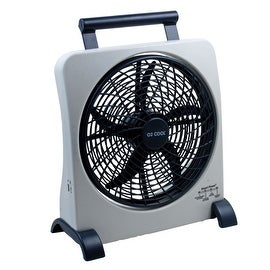 O2-Cool FD10006AU Smart Power Fan With USB Port, Gray, 10""