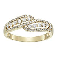 3/8 ct Diamond Bypass Anniversary Ring in 14K Gold