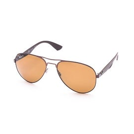 Ray-Ban Polarized Aviator Sunglasses Copper - Small