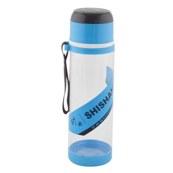 Camping Plastic Detachable Tea Strainer Sport Water Bottle Cup Mug Blue 760ML