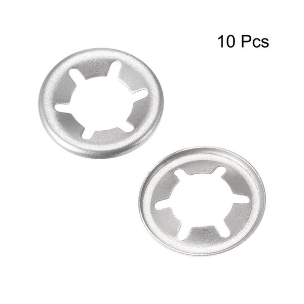 304 Stainless Steel Pack of 40 uxcell M10 Starlock Washer 9.1mm I.D Internal Tooth Lock Washers Push On Locking Speed Clip 19mm O.D