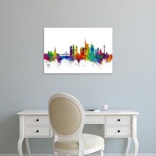 Easy Art Prints Michael Tompsett's 'Frankfurt Germany Skyline' Premium Canvas Art