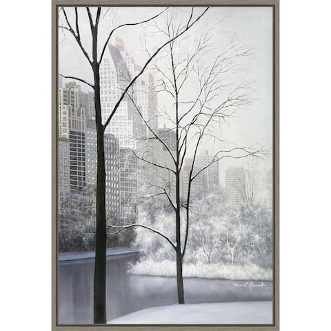Central Park by Diane Romanello Framed Canvas Art
