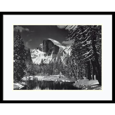 Framed Art Print 'Half Dome, Winter - Yosemite National Park, 1938' by Ansel Adams 29 x 23-inch