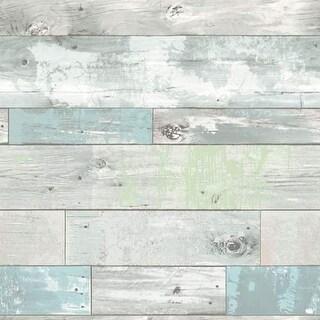 Brewster Beachwood Peel and Stick Wallpaper Beachwood Wall Pops Wallpaper